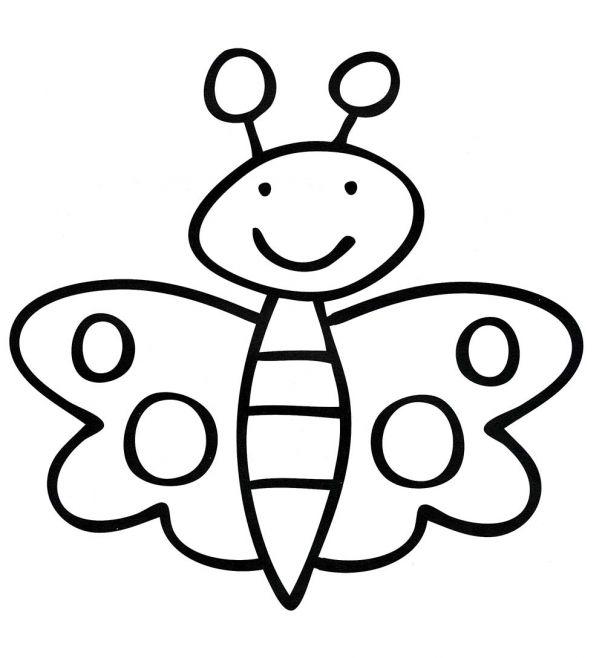 Бабочка раскраска в картинках