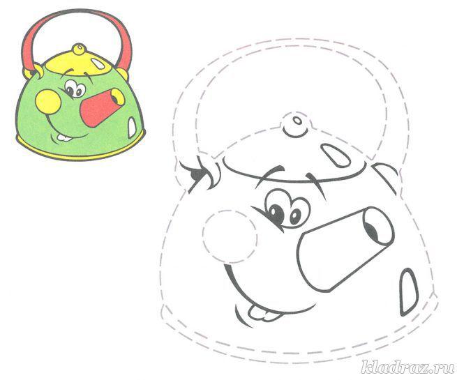 Раскраска с заданием для детей 3-5 лет