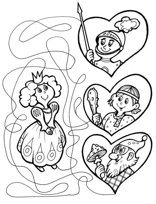 Лабиринты для детей от 4 лет принцесса