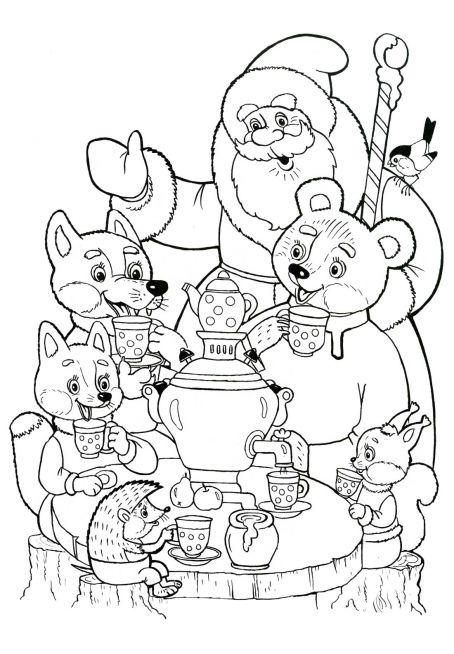 Детские зимние игры в рисунках