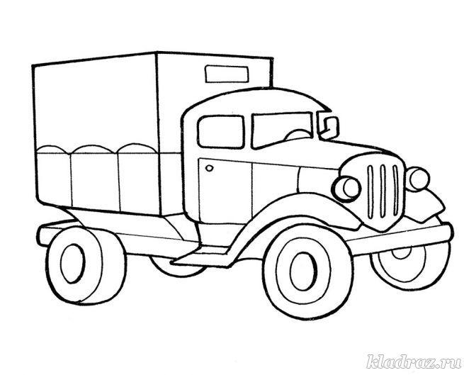 Раскраски детям 6 машины