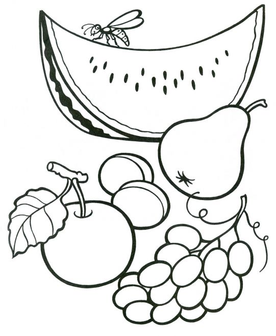 Овощи в картинках раскраска