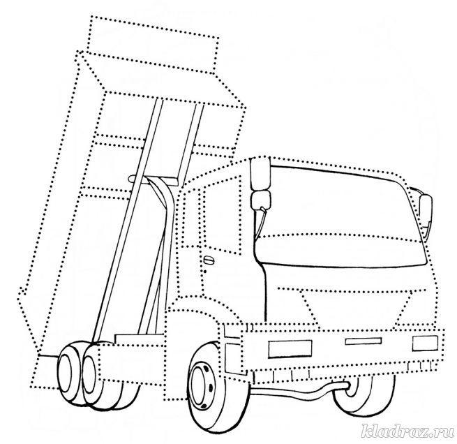 Раскраски грузовик распечатать бесплатно