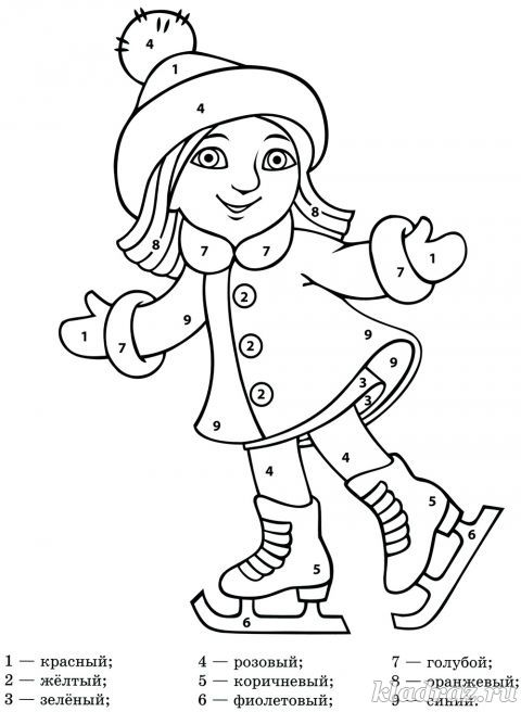 Рисунок по цифрам для детей с 7 лет распечатать