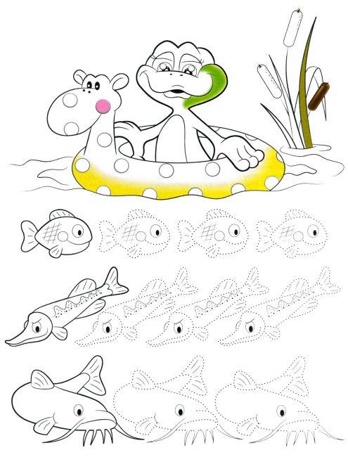 Раскраски для детей подводный мир