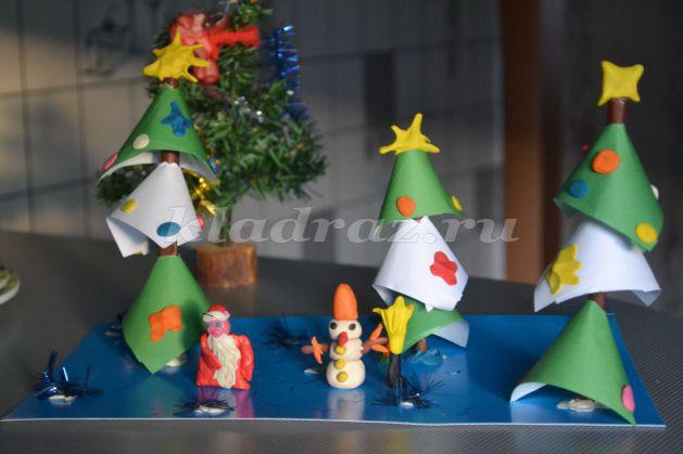 Новогодние поделки с детьми 5-6 лет своими руками