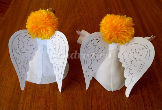 Сделать ангела из бумаги своими руками по шаблону