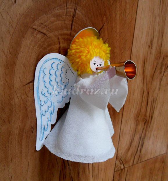 Бумага поделки из нее ангел поделки своими руками 7