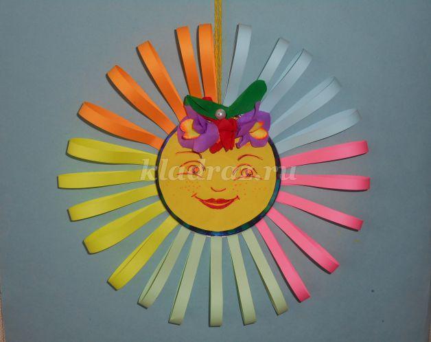 Солнышко своими руками для детского сада из бумаги 12