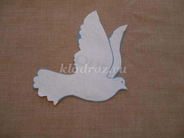 Поделки голубь мира из бумаги шаблон 1