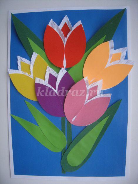 Как сделать цветы на день мамы фото 435