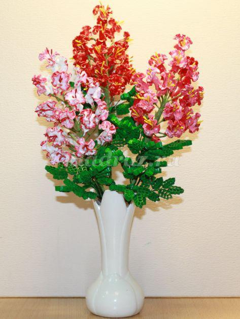 Поделки из макарон своими руками цветы для фото 480