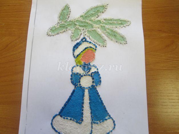 Новогодняя открытка объёмная ёлочка своими руками