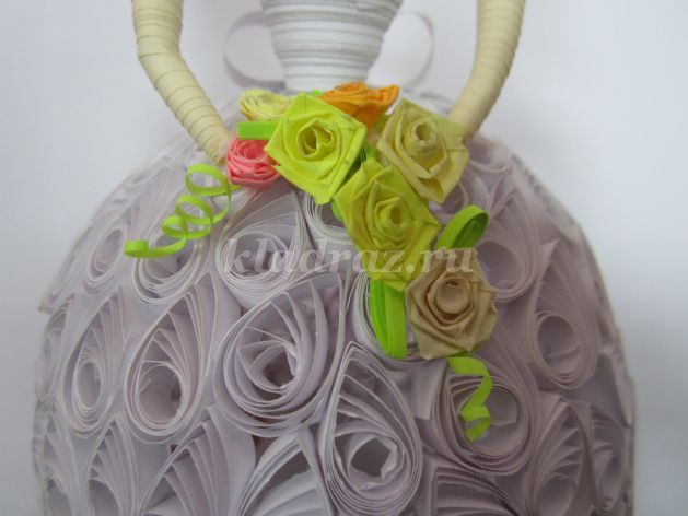 Букет из пяти роз своими руками