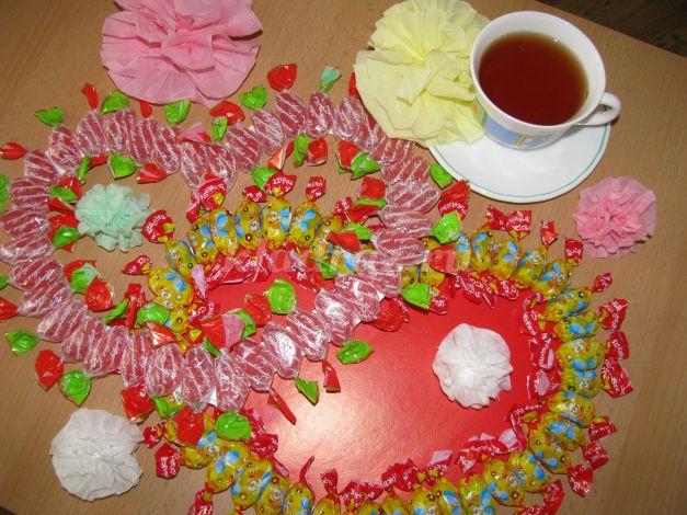 Сладкий подарок на 14 февраля своими руками доставка цветов в александрию кировоградской обл