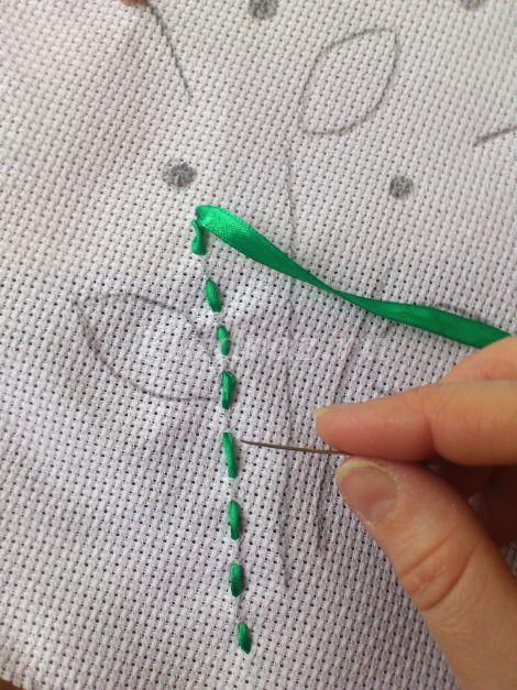 Как сделать розу из ленты пошаговая инструкция