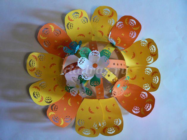 Шляпка цветок из бумаги своими руками