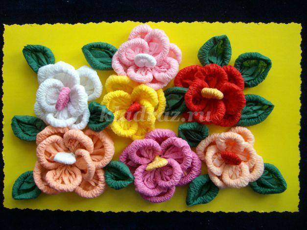 Цветы салфеток своими руками мастер класс