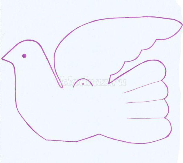 Голубь мира своими руками из бумаги картинки