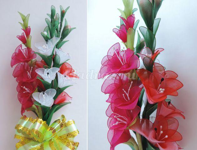 Как сделать цветок из капрона своими руками фото 127