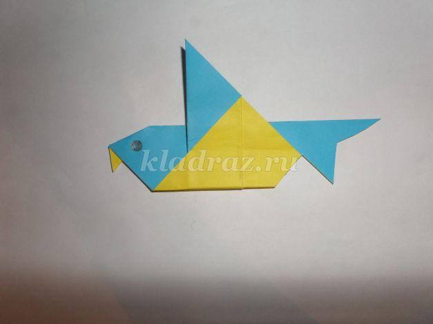 Схема оригами синичка