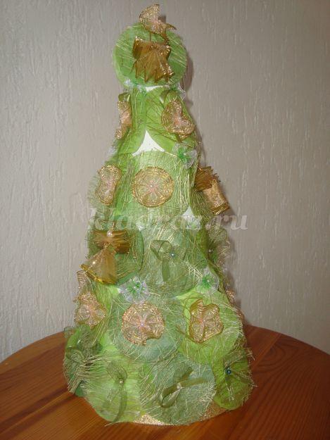 Декоративная елочка своими руками мастер класс