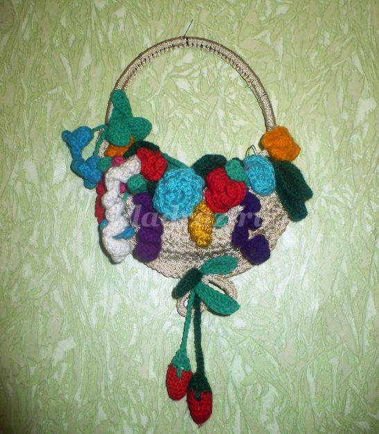 Корзина с цветами из лент своими руками мастер класс для начинающих