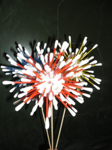 Цветы из ватных палочек своими руками мастер