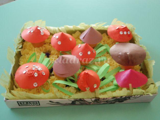 картинка грибная полянка для детей