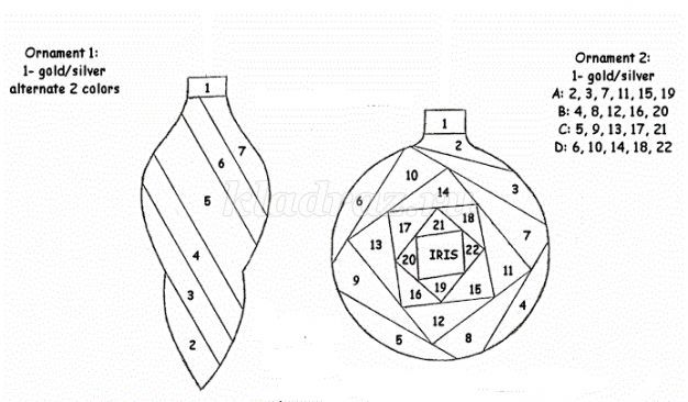 айрис фолдинг схемы шаблоны для деда мороза