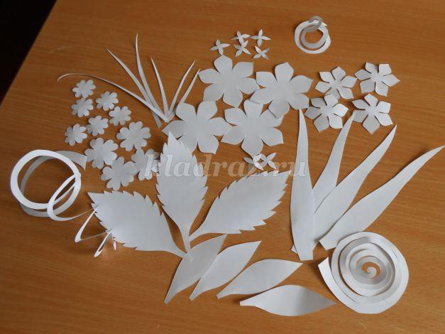 Цветы и картины из бумаги своими руками