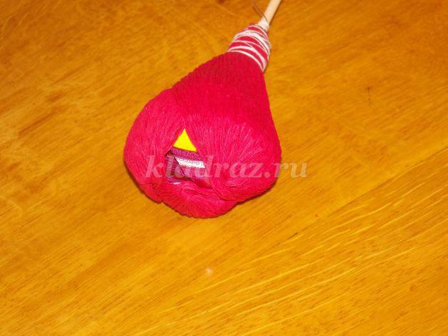 Как сделать тюльпан из бумаги с конфетами