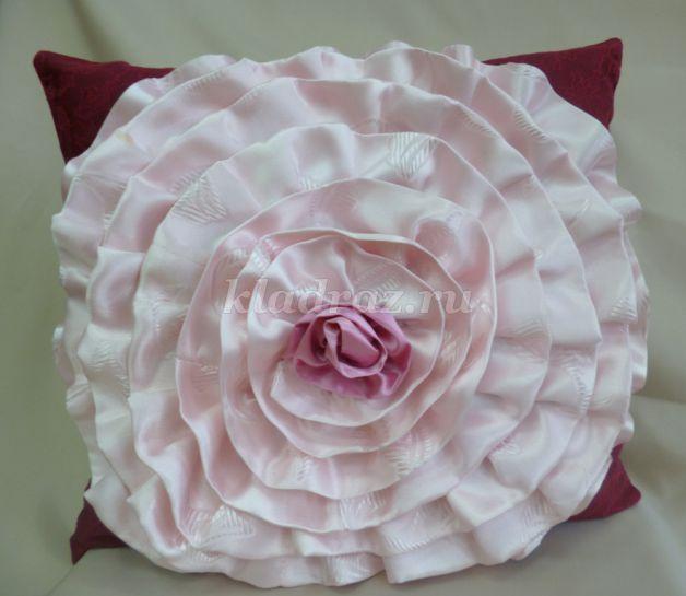 Мастер класс для подушки роза своими руками 668