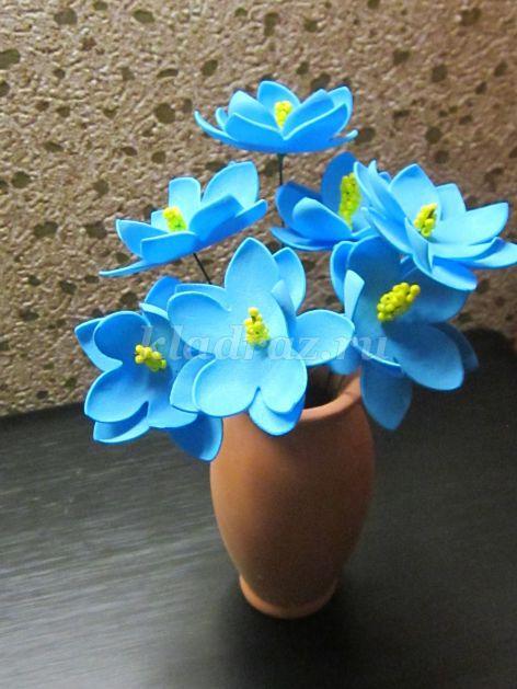 Фото цветов из фоамирана своими руками