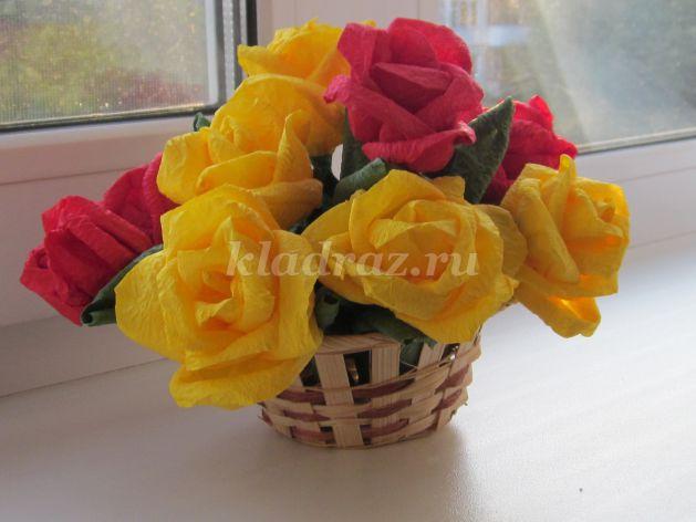 Цветы из салфеток бумаги своими руками