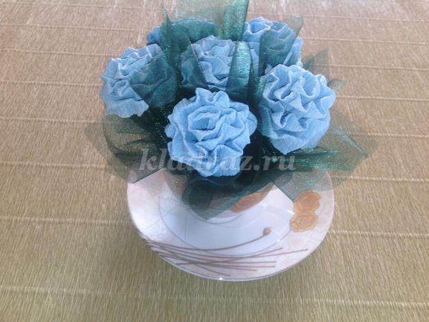 Розы из гофрированной бумаги своими руками с