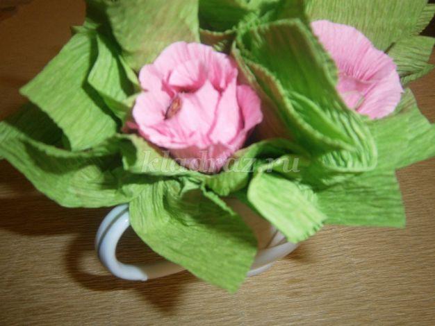 Букет из роз из гофрированной бумаги своими