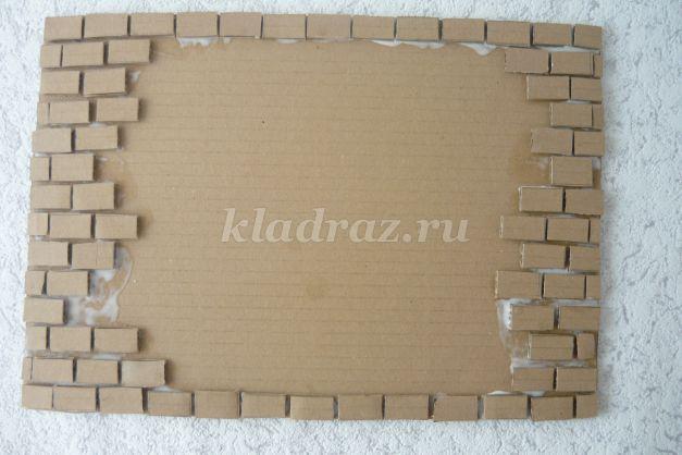Имитация кирпичной стены из картона своими руками 45