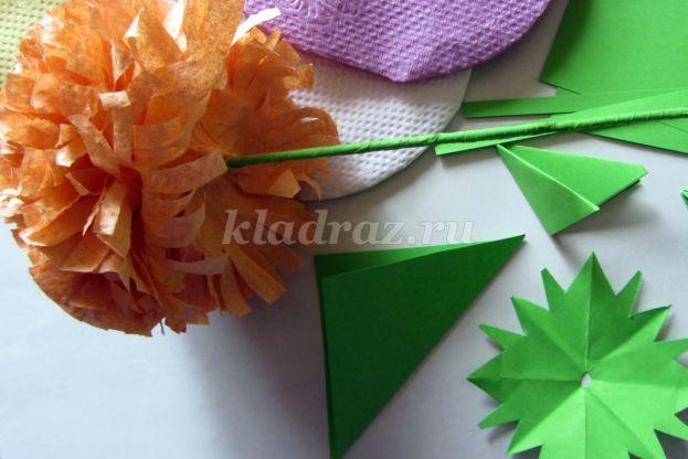 Хризантемы из салфеток пошаговое 199