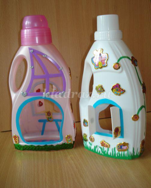 Домик для детей из бутылок своими руками