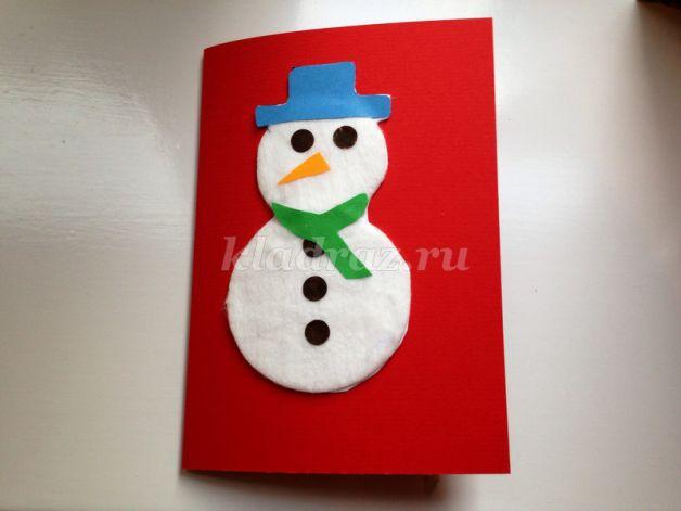 Фото снеговик из ватных дисков своими руками