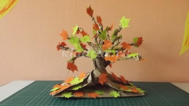 Поделка дерево осеннее 115