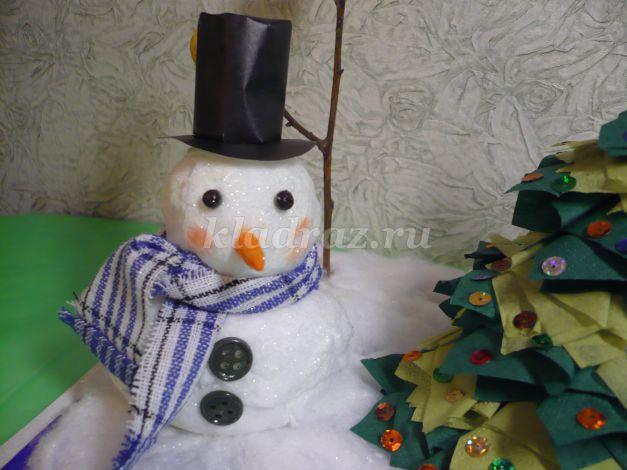 Снеговик поделка в школу