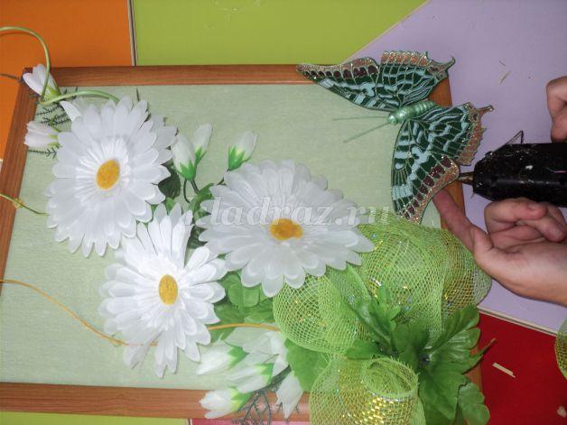 Картины с искусственных цветов своими руками