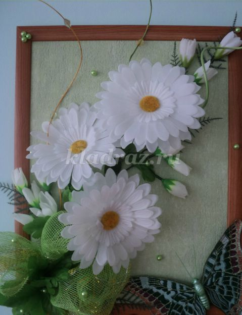 Цветы из бумаги картины своими руками из