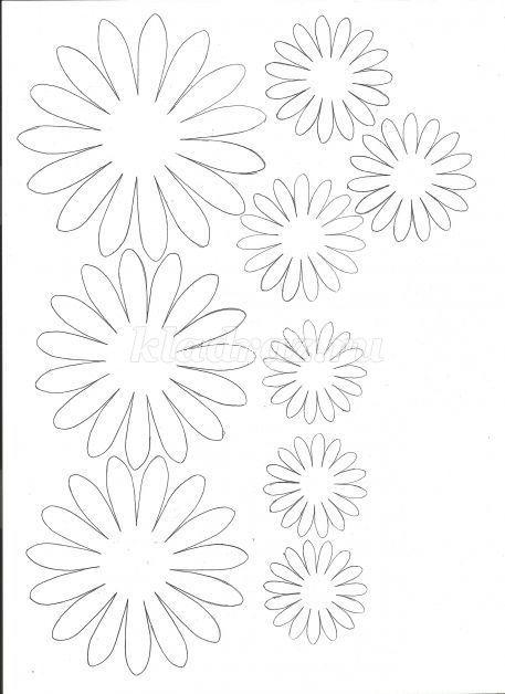 Плоские цветы из бумаги своими руками схемы шаблоны 80