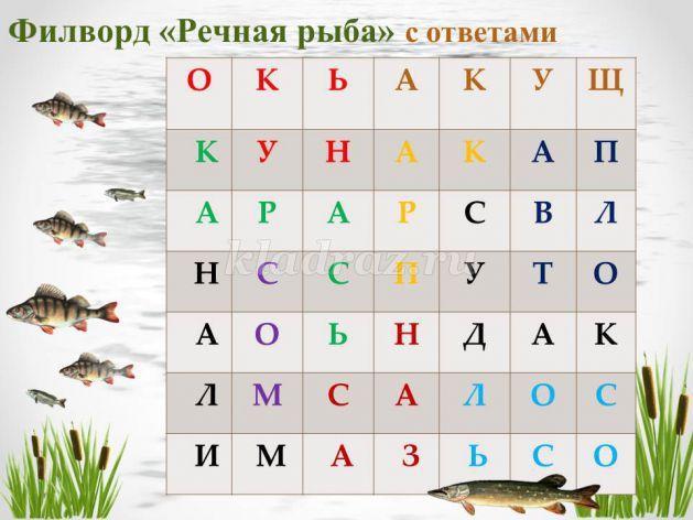 снасть на рыбу с глубины сканворд