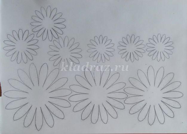 Шаблон для цветов своими руками фото 965