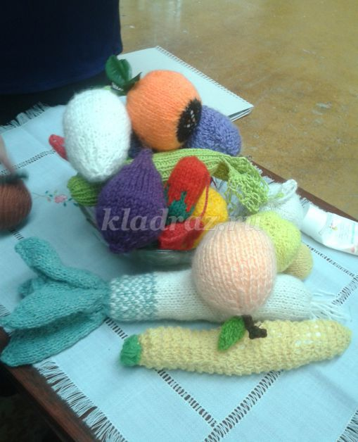 Схема вязания клубнички: