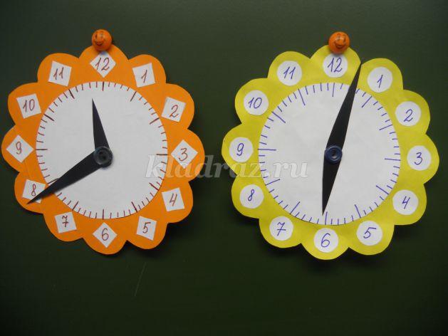Часы из картона с крутящимся циферблатом своими руками 29